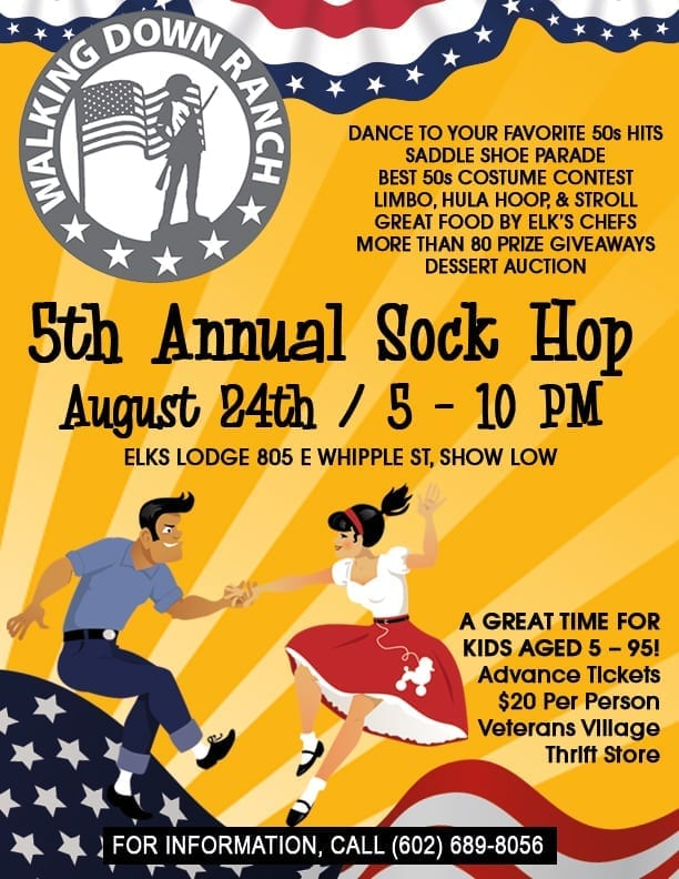 Walking Down Ranch Sock Hop flier (image)